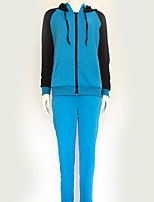 Women's Sports Holiday Casual/Daily Simple Street chic Fall Winter Hoodie Pant Suits,Pattern Round Neck Long Sleeve