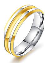 Herrn Ring Vintage Elegant Titanstahl 18K Gold Runde Form Schmuck Für Hochzeit Party Verlobung Zeremonie