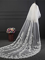 Wedding Veil Two-tier Chapel Veils Lace Applique Edge Tulle
