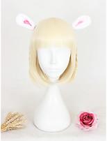 cosplay perruque Synthétique Sans bonnet Perruques Court Jaune Cheveux