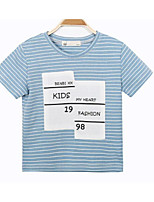 Boys' Stripe Tee,Cotton Summer Short Sleeve Regular