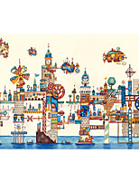 Jigsaw Puzzles Jigsaw Puzzle Building Blocks DIY Toys Aircraft Castle Tower Ship House Wooden