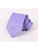 Men's Polyester Neck Tie,Flower Fashion Jacquard All Seasons