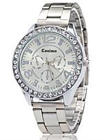 XU Neutral Quartz Alloy Steel Belt Imitation Diamond Wrist watch Dress Watch