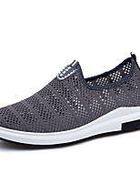 Men's Sneakers Light Soles Spring Fall Tulle Walking Shoes Casual Outdoor Flat Heel Black Dark Blue Gray Flat