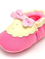 Baby Flats Comfort Fabric Spring Fall Wedding Casual Outdoor Party & Evening Dress Comfort Bowknot Flat Heel Blushing Pink Flat