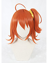 14inch Short Fate/Grand Order Fujimaru Ritsuka Female Wig Orange Synthetic Anime Cosplay WigOne Ponytail CS-331C