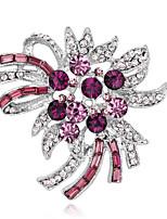 Dámské Dívčí Brože Módní Euramerican Ručně vyrobeno Slitina Flower Shape Šperky Pro Zvláštní příležitosti Večírek Denní Obřad Ležérní