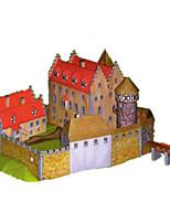 Quebra-cabeças Kit Faça Você Mesmo Quebra-Cabeças 3D Blocos de construção Brinquedos Faça Você Mesmo Castelo Cartão de Papel Duro