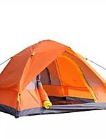 3-4 personnes Tente Double Tente automatique Une pièce Tente de camping 2000-3000 mm Fibre de Verre TérylèneEtanche Séchage rapide