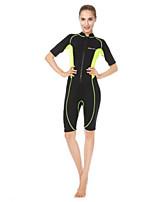 Femme Anti UV Résistant aux ultraviolets Sécurité Nylon Néoprène Tenue de plongée Demi Manches Combinaisons-Surf Plongée Sports Nautiques