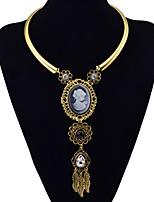 Femme Collier court /Ras-du-cou Pendentif de collier Colliers Déclaration Turquoise AlliageBasique Original Pendant Naturel Amitié