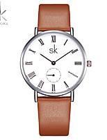 SK Жен. Модные часы Китайский Кварцевый Ударопрочный PU Группа Повседневная минималист Коричневый