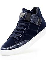 Men's Sneakers Comfort Summer Fall Suede Casual Outdoor Flat Heel Black Blue Flat