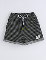 Boys' Stripe Shorts-Cotton Summer