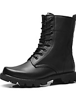 Men's Boots Fashion Boots Motorcycle Boots Combat Boots Fall Winter Real Leather Nappa Leather Cowhide Trail Running Shoes Athletic