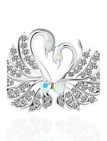 Жен. Броши Имитация Алмазный Животный дизайн Птица Бижутерия Назначение Свадьба Для вечеринок