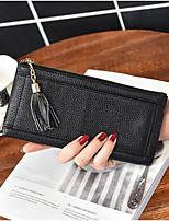 Men Checkbook Wallet Cowhide All Seasons Casual Rectangle Zipper Ruby Silver Gray Black