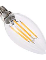 1 pcs YWXLight® Dimmable LED Bulb E14 C35 4W Glass Shell 360 Degree Vintage LED Candle Light C35 Edison LED Filament Lamp AC220-240V