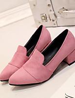 Damen High Heels Komfort Beflockung Frühling Normal Komfort Grau Blau Rosa Flach