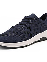 Men's Sneakers Comfort Spring Fall Tulle Outdoor Lace-up Flat Heel Black Gray Blue Under 1in