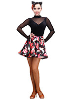 Latin Dance Women's Performance Spandex 1 Piece Dropped Skirts