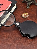 1Pcs  Portable 60MM Magnifier Mini Magnifying Glass Loupe Reading Tool for Night Reading Ramdon Color