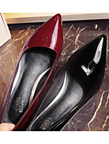 Women's Shoes Real Leather Spring Summer Comfort Formal Shoes Heels For Casual Black Wine