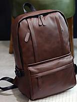 Unisex Sports & Leisure Bag PU All Seasons Casual Round Zipper Black Brown
