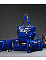 Women Shoulder Bag PU All Seasons Casual Outdoor Round Zipper Black Blue