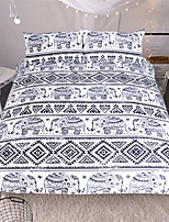 Animals  3pcs (1 Duvet Cover 2 Shams)Black Bedding Set Black and Red Boho Duvet Cover and Pillowcase Indian Style Print Exotic Bedclothes Multi Sizes