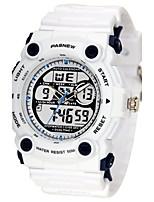 Homens Relógio Esportivo Relógio de Moda Digital Impermeável Borracha Banda Preta