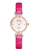 Mulheres Relógio de Moda Quartzo PU Banda Preta Branco Roxa Rose