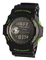 Homens Relógio Esportivo Digital Borracha Banda Preta Verde
