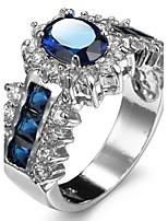 Damen Ringformen Bandringe Ring Kubikzirkonia Strass Imitation DiamantBasis Einzigartiges Design Strass Freundschaft individualisiert