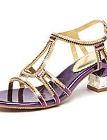 Femme Chaussures à Talons Confort Nouveauté PU de microfibre synthétique Eté Automne Décontracté Habillé Marche Confort Nouveauté Cristal