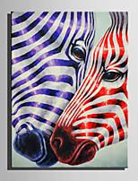 Mini Size E-HOME Oil painting Modern Zebra Love Pure Hand Draw Frameless Decorative Painting
