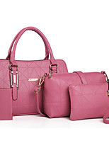 Women Bags All Seasons PU Tote with for Casual Office & Career Blue Black Beige Wine Blushing Pink