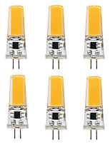 6PCS BRELONG G4 1*COB 270-300LM Warm/Cool White AC/DC 10-16V Waterproof LED Bi-pin Lights