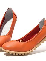 Для женщин Мокасины и Свитер Светодиодные подошвы Наппа Leather Лето Осень Повседневные Светодиодные подошвыБелый Черный Оранжевый