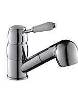 High Quality Brass Chrome Finish Single Handle One Hole Rotatable Kitchen Sink Faucet