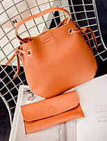 Women Shoulder Bag PU All Seasons Casual Outdoor Round Zipper Brown Gray Black