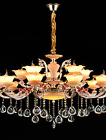 Pendant Light Zinc Alloy Feature for Crystal Mini Style Metal Indoors Hallway Shops/Cafes 15 Bulbs