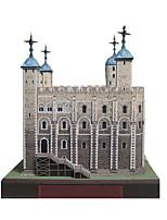 Puzzles Kit de Bricolage Puzzles 3D Blocs de Construction Jouets DIY  Tour Bâtiment Célèbre Architecture