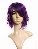 30cm Synthetic Cosplay Short Wig Purple  Costume Party Dress Wigs for Women Men