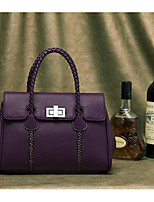 Women Bags All Seasons Cowhide Tote with for Casual Outdoor Black Red Purple
