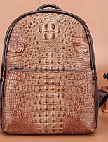Men Backpack PU All Seasons Casual Round Zipper Black Brown