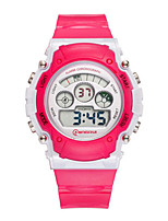 Kid's Sport Watch Digital Watch Digital Water Resistant / Water Proof Noctilucent Rubber Band Red