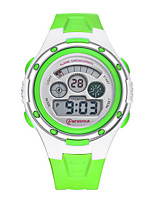 Kid's Sport Watch Digital Water Resistant / Water Proof Noctilucent Rubber Band Blue Green Purple