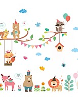 Wall Stickers Wall Decas Style Cartoon Fox Lion Zoo PVC Wall Stickers